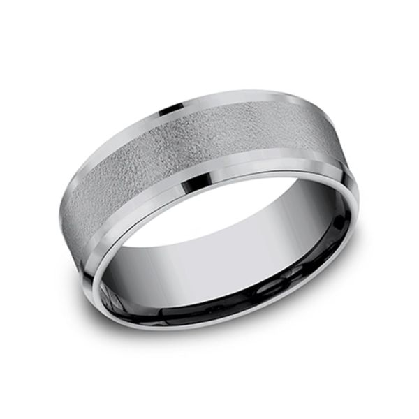 Tantalum Grey Metals Textured Men's Wedding Band Coughlin Jewelers St. Clair, MI