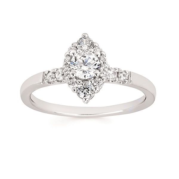 Marquises Halo Engagement Ring Cravens & Lewis Jewelers Georgetown, KY