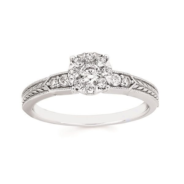 Cluster Engagement Ring Cravens & Lewis Jewelers Georgetown, KY