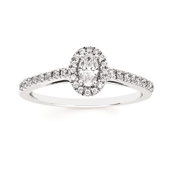 Oval Halo Engagement Ring Cravens & Lewis Jewelers Georgetown, KY
