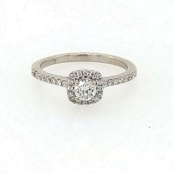 Halo Engagement Ring Cravens & Lewis Jewelers Georgetown, KY