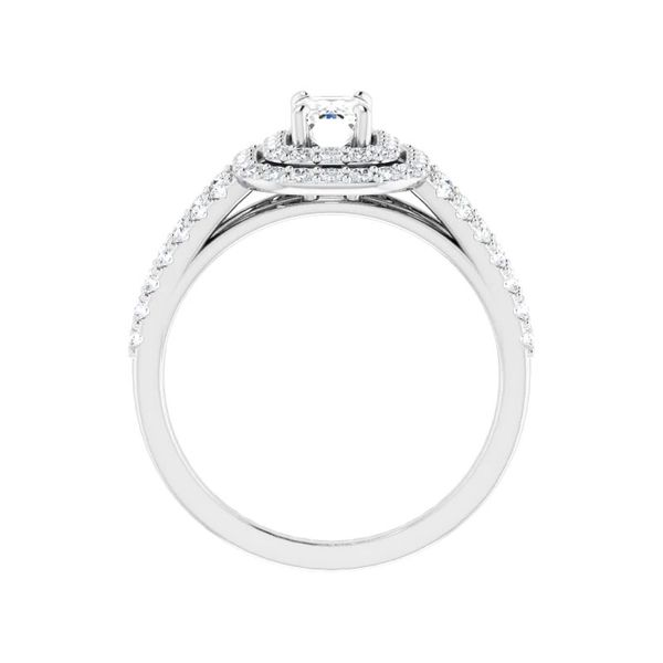 14k Double Halo Engagement Ring Image 2 David Douglas Diamonds & Jewelry Marietta, GA