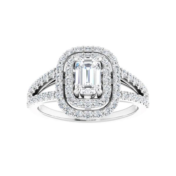 14k Double Halo Engagement Ring Image 3 David Douglas Diamonds & Jewelry Marietta, GA