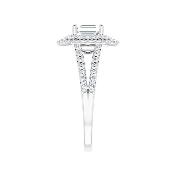 14k Double Halo Engagement Ring Image 4 David Douglas Diamonds & Jewelry Marietta, GA