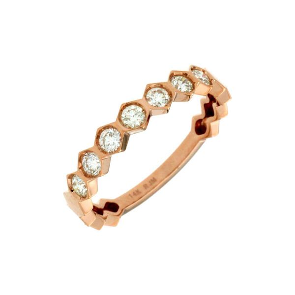 14k Rose Gold Diamond Stackable Ring David Douglas Diamonds & Jewelry Marietta, GA