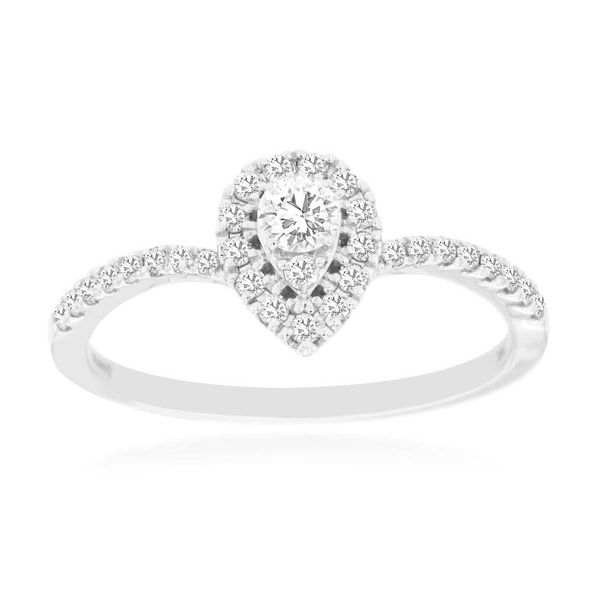 14k White Gold Pear Halo Fashion Ring David Douglas Diamonds & Jewelry Marietta, GA