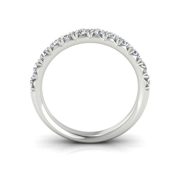 14k 3/4 CTW French Set Micro Pave Diamond Band Image 2 David Douglas Diamonds & Jewelry Marietta, GA