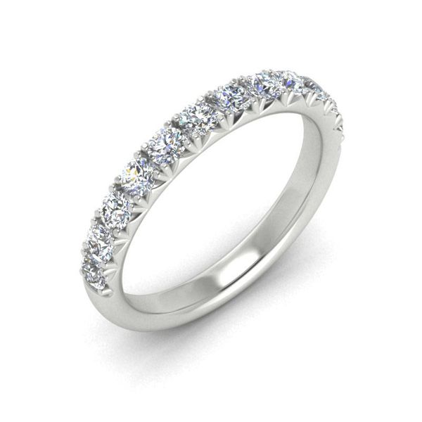 14k 3/4 CTW French Set Micro Pave Diamond Band Image 3 David Douglas Diamonds & Jewelry Marietta, GA