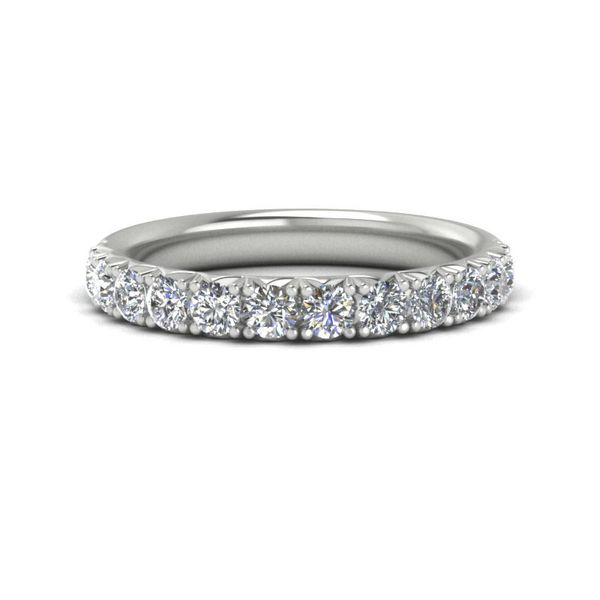 14k 3/4 CTW French Set Micro Pave Diamond Band David Douglas Diamonds & Jewelry Marietta, GA