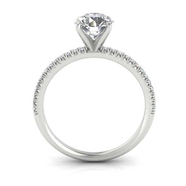 14k Accented Solitaire Engagement Ring Image 2 David Douglas Diamonds & Jewelry Marietta, GA