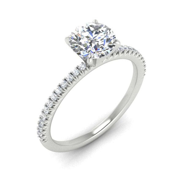 14k Accented Solitaire Engagement Ring Image 3 David Douglas Diamonds & Jewelry Marietta, GA