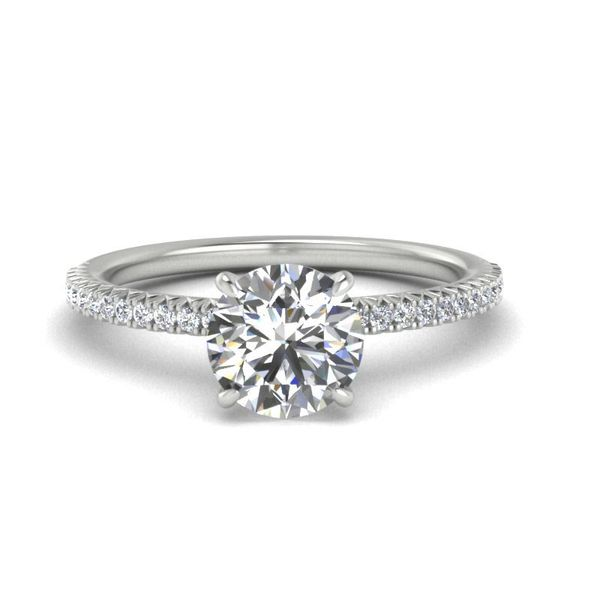 14k Accented Solitaire Engagement Ring David Douglas Diamonds & Jewelry Marietta, GA