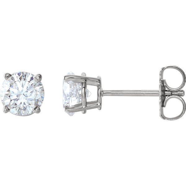 14k White Gold 3/4 CTW Diamond Studs | Value Image 2 David Douglas Diamonds & Jewelry Marietta, GA