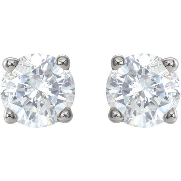14k White Gold 3/4 CTW Diamond Studs | Value David Douglas Diamonds & Jewelry Marietta, GA