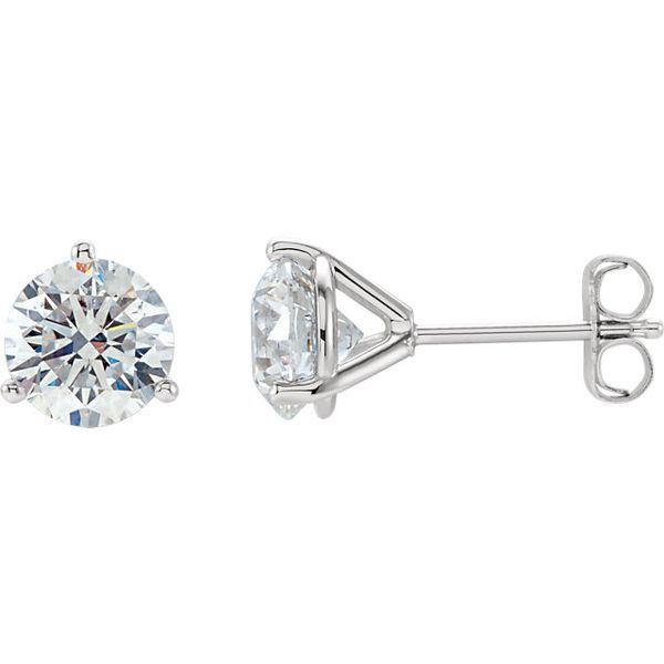 14k White 1 1/2 CTW Lab Grown Diamond Earrings Image 2 David Douglas Diamonds & Jewelry Marietta, GA