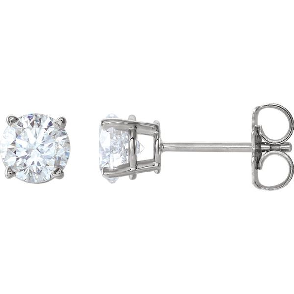 14k White 1/2 CTW Diamond Earrings | Value Image 2 David Douglas Diamonds & Jewelry Marietta, GA
