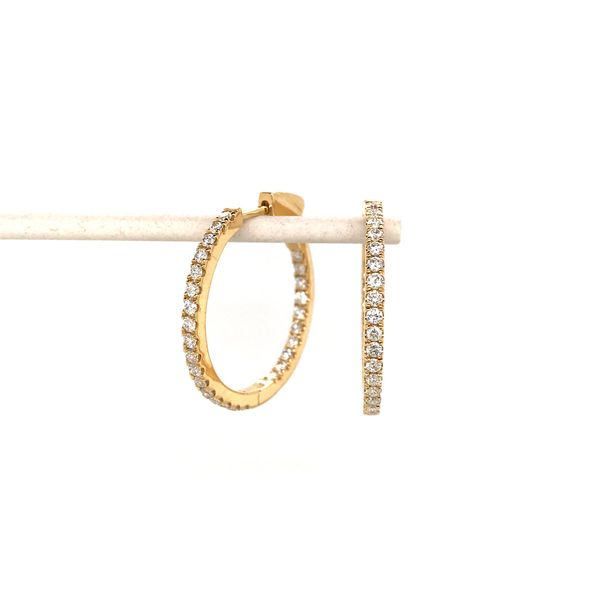 18k Yellow Gold Diamond Hoop Earrings David Douglas Diamonds & Jewelry Marietta, GA