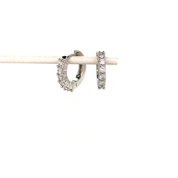 18k White Gold Diamond Hoop Earrings David Douglas Diamonds & Jewelry Marietta, GA