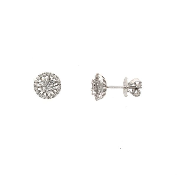 18k White Gold Diamond Earrings Image 2 David Douglas Diamonds & Jewelry Marietta, GA