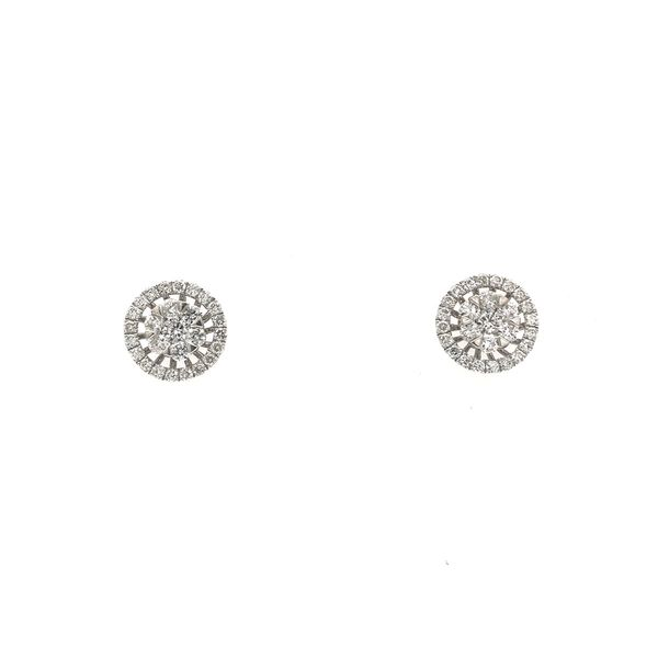 18k White Gold Diamond Earrings David Douglas Diamonds & Jewelry Marietta, GA
