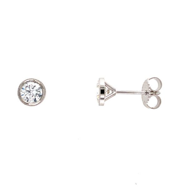 14k White Gold 0.84 CTW Diamond Stud Earrings Image 2 David Douglas Diamonds & Jewelry Marietta, GA