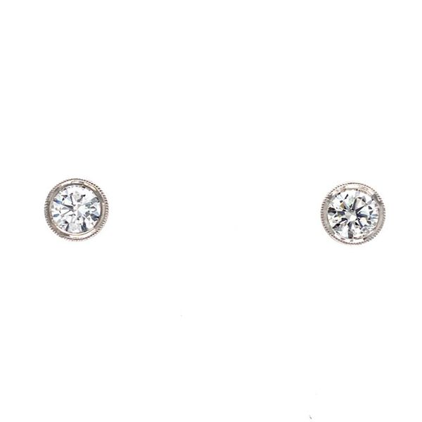 14k White Gold 0.84 CTW Diamond Stud Earrings David Douglas Diamonds & Jewelry Marietta, GA