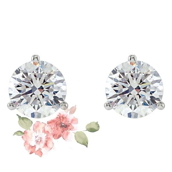 14k White 1 1/2 CTW Lab Grown Diamond Earrings David Douglas Diamonds & Jewelry Marietta, GA