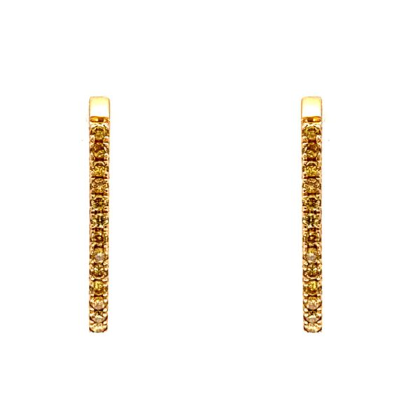 18k Dainty Yellow Diamond Earrings Image 2 David Douglas Diamonds & Jewelry Marietta, GA