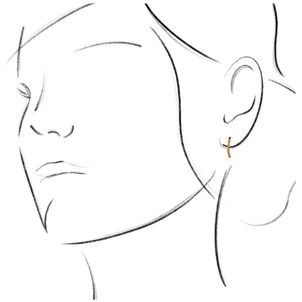 18k Dainty Yellow Diamond Earrings Image 3 David Douglas Diamonds & Jewelry Marietta, GA