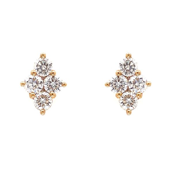 18k Cluster Style Earrings Image 2 David Douglas Diamonds & Jewelry Marietta, GA
