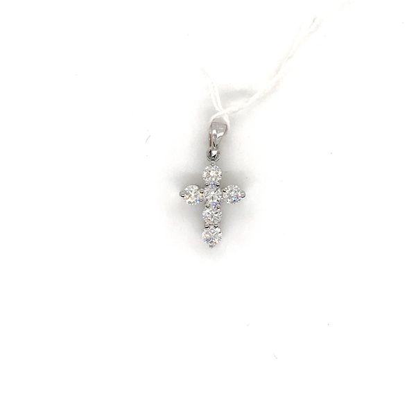 18k White Gold Diamond Cross Pendant David Douglas Diamonds & Jewelry Marietta, GA