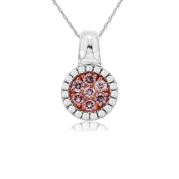 14k White Gold Pink Diamond Necklace David Douglas Diamonds & Jewelry Marietta, GA
