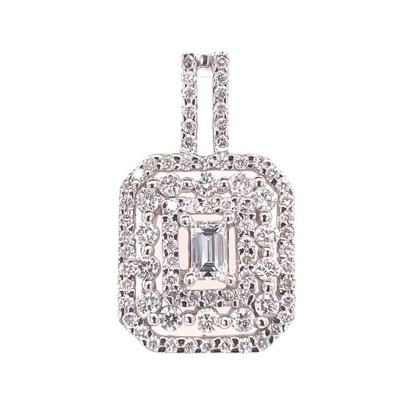 18k Triple Halo Diamond Pendant David Douglas Diamonds & Jewelry Marietta, GA