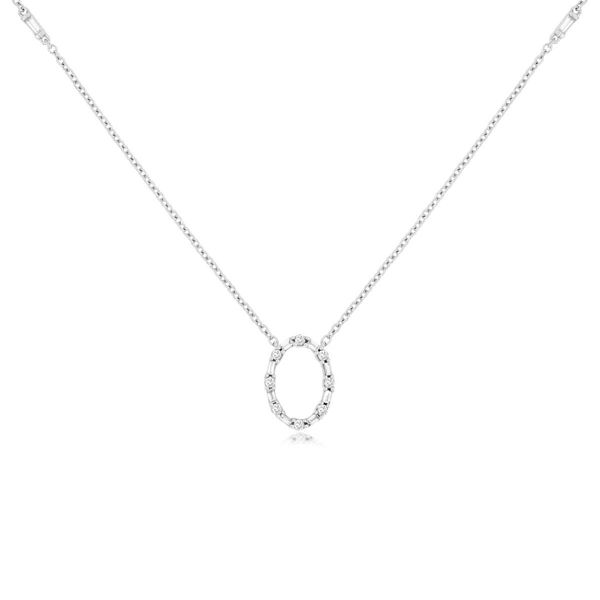 14k White Gold Oval Diamond Necklace David Douglas Diamonds & Jewelry Marietta, GA