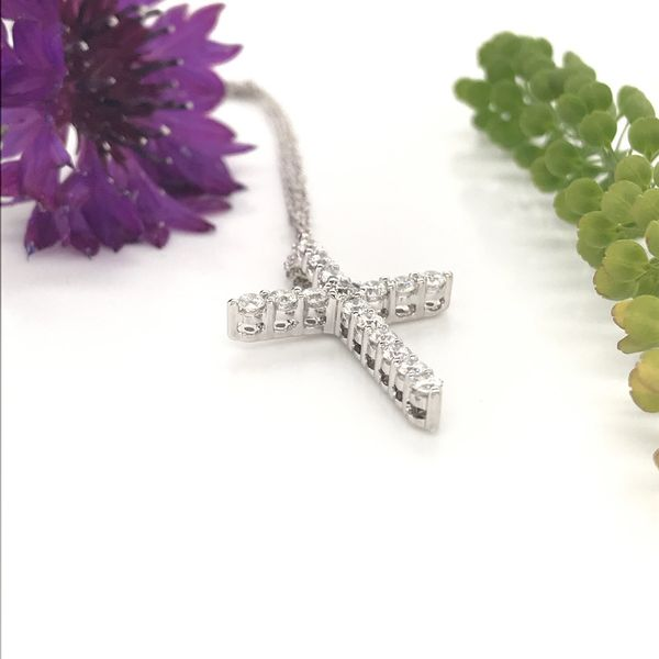 1/2 CTW Lab Grown Diamond Cross Necklace Image 2 David Douglas Diamonds & Jewelry Marietta, GA