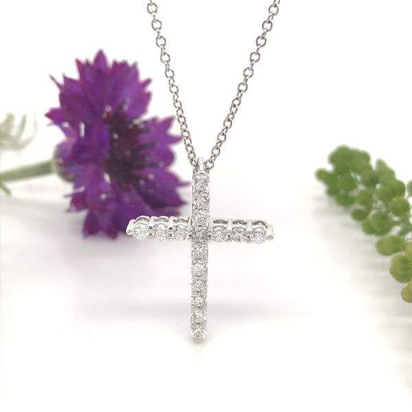1/2 CTW Lab Grown Diamond Cross Necklace Image 3 David Douglas Diamonds & Jewelry Marietta, GA