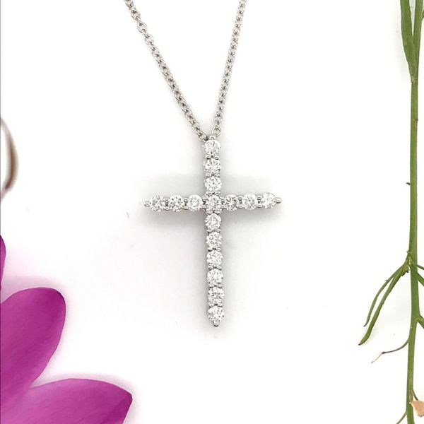 1/2 CTW Lab Grown Diamond Cross Necklace David Douglas Diamonds & Jewelry Marietta, GA
