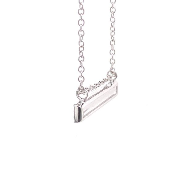 18k Pave Diamond Bar Necklace Image 2 David Douglas Diamonds & Jewelry Marietta, GA