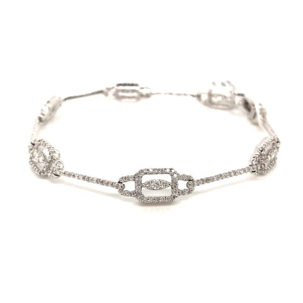 18k White Gold Diamond Link Bracelet David Douglas Diamonds & Jewelry Marietta, GA