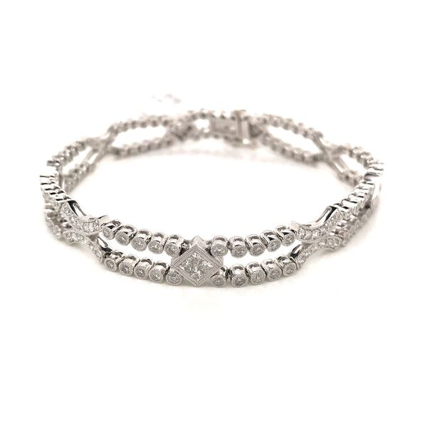 18k White Gold Diamond Bracelet David Douglas Diamonds & Jewelry Marietta, GA