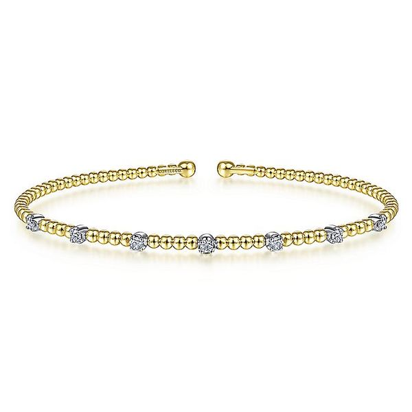 14k Bujukan Bead Cuff Bracelet David Douglas Diamonds & Jewelry Marietta, GA