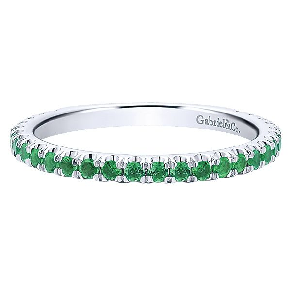 14K White Gold Emerald Ring | May David Douglas Diamonds & Jewelry Marietta, GA