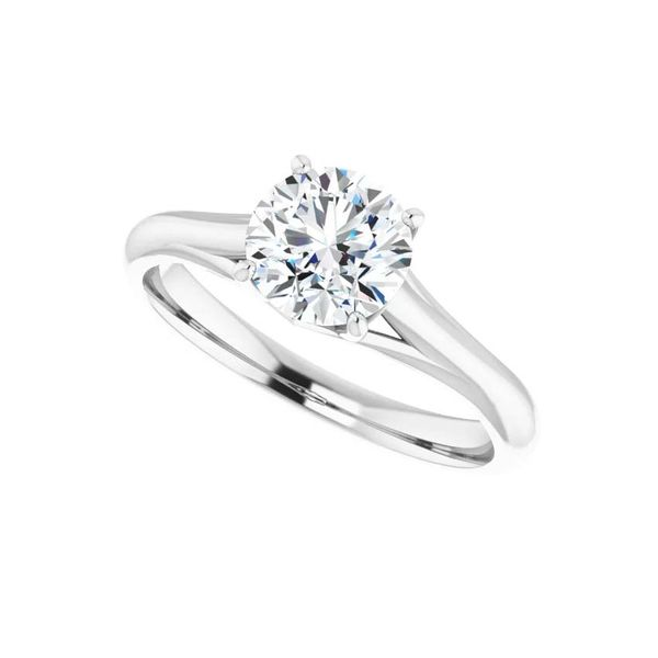 14k Moissanite Engagement Ring Image 5 David Douglas Diamonds & Jewelry Marietta, GA