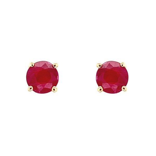 14k Ruby Stud Earrings Image 2 David Douglas Diamonds & Jewelry Marietta, GA