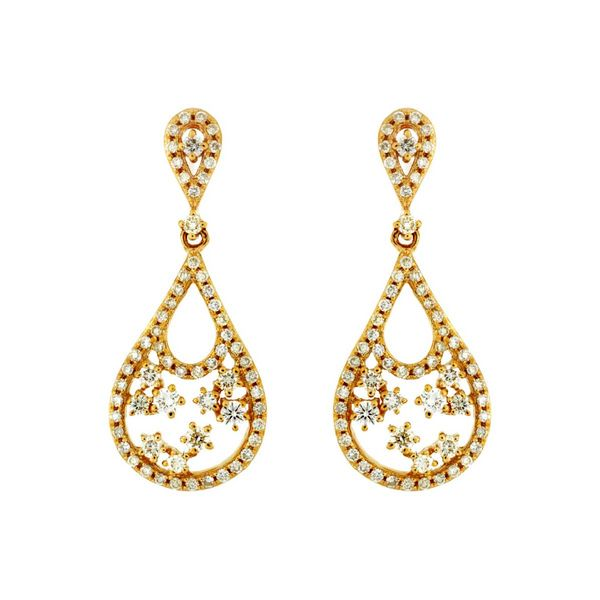 14k Yellow Gold Tear Drop Earrings David Douglas Diamonds & Jewelry Marietta, GA