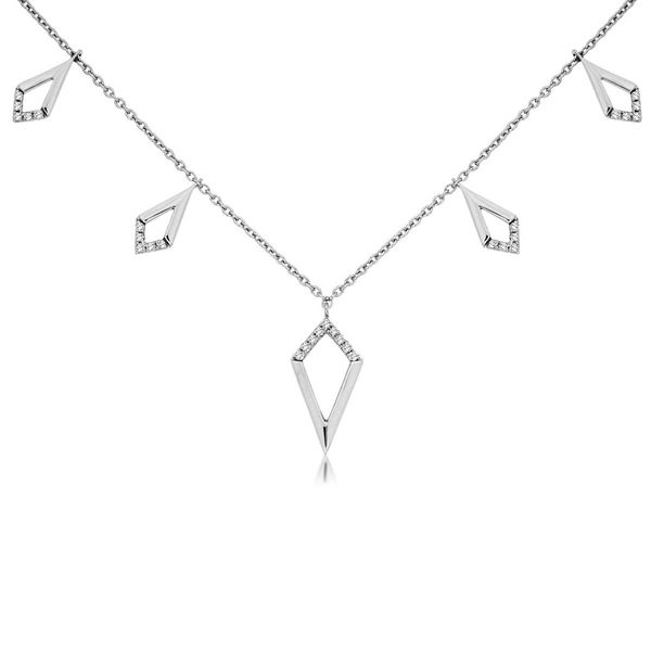 14k White Gold Geometric Style Necklace David Douglas Diamonds & Jewelry Marietta, GA