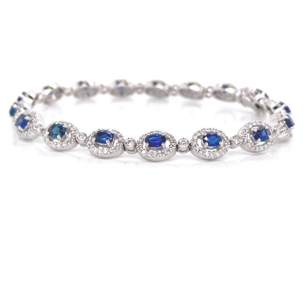 18k Multi Halo Gemstone Bracelet David Douglas Diamonds & Jewelry Marietta, GA