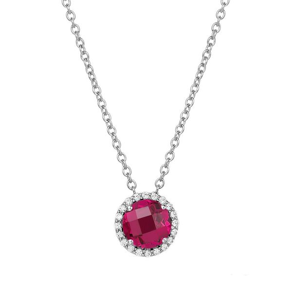 Silver Birthstone Necklace | July David Douglas Diamonds & Jewelry Marietta, GA