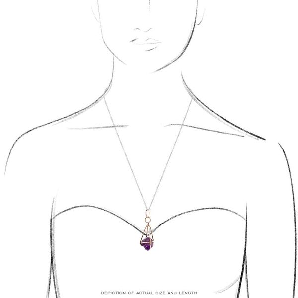 Amethyst Swinging Cage Necklace Image 3 David Douglas Diamonds & Jewelry Marietta, GA