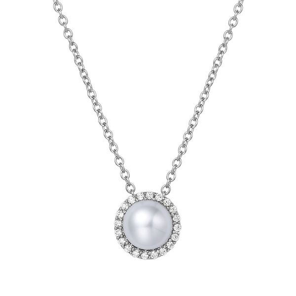 Silver Birthstone Necklace | June David Douglas Diamonds & Jewelry Marietta, GA